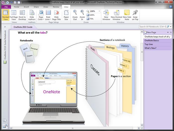 Microsoft Onenote 2010 Cheat Sheet | myideasbedroom.com