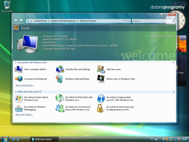 Windows Vista Home Basic (Домашняя базовая) Service.